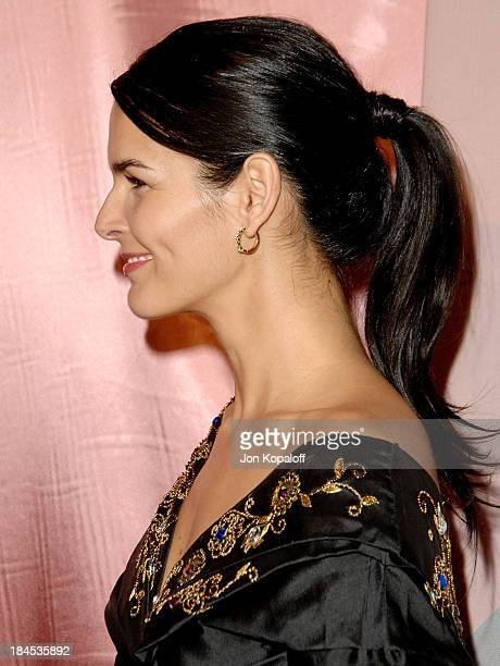 Actress Angie Harmon arrives at 'The 7th Annual Awards Season Diamond Fashion Show' at the Beverly Hills Hotel on January 10 2008 in Beverly Hills...