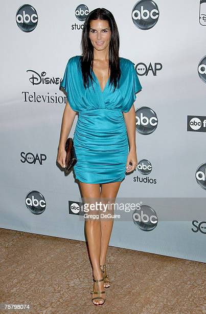 Actress Angie Harmon arrives at the ABC Summer Press Tour Party at the Beverly Hilton Hotel on July 26, 2007 in Beverly Hills, California.