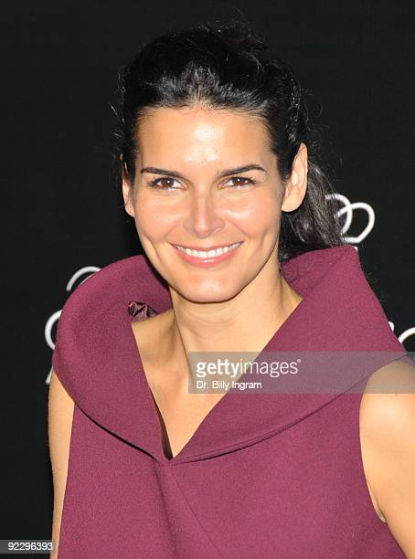 Actress Angie Harmon arrives at the celebration of the City of Beverly Hills Rodeo Drive Committee to Honor Princess Grace on October 22 2009 in...