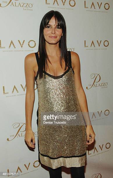 Actress Angie Harmon arrives at the Grand Opening of LAVO Restaurant and Nightclub at The Palazzo The Venetian Hotel and Casino Resort on September...