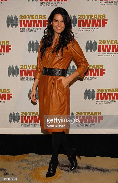 Actress Angie Harmon arrives at The International Women's Media Foundation's Courage In Journalism Awards held at the Beverly Hills Hotel on October...