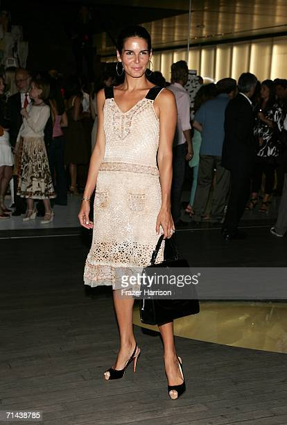 Actress Angie Harmon arrives at the opening of Waist Down Skirts By Miuccia Prada held at Prada on July 13 2006 in Beverly Hills California