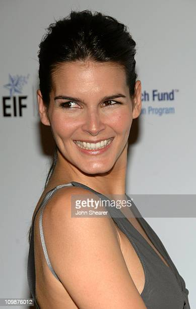 Actress Angie Harmon arrives at the Unforgettable Evening Benefiting The Entertainment Industry Foundation held at the Beverly Wilshire Hotel on...