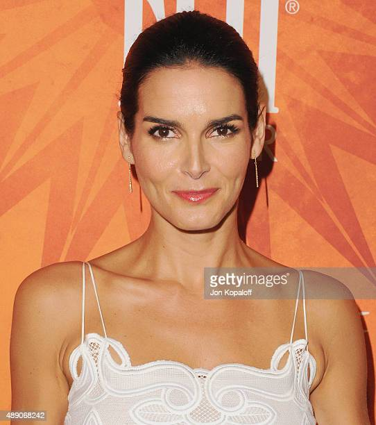 Actress Angie Harmon arrives at the Variety And Women In Film Annual Pre-Emmy Celebration at Gracias Madre on September 18, 2015 in West Hollywood,...