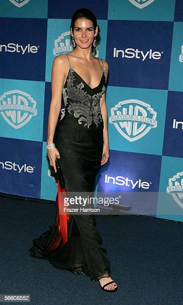 Actress Angie Harmon arrives at the Warner Bros/InStyle Golden Globe after party held at the Oasis at the Beverly Hilton on January 16 2006 in...