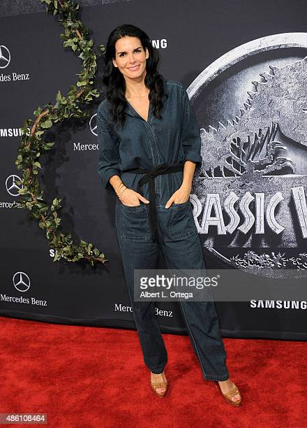 Actress Angie Harmon arrives for the Premiere Of Universal Pictures' Jurassic World held in the courtyard of Hollywood Highland on June 9 2015 in...