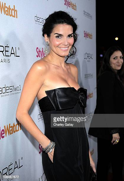 Actress Angie Harmon arrives to 'A Night Of Red Carpet Style' hosted by People StyleWatch at Decades on January 27, 2011 in Los Angeles, California.