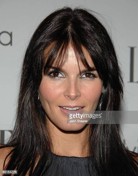 Actress Angie Harmon arrives to ELLE Magazine's 15th Annual Women in Hollywood Tribute held at The Four Seasons on October 6 2008 in Los Angeles...