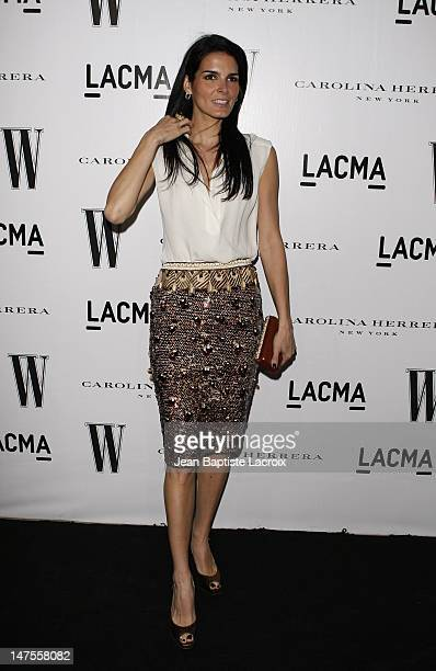 Actress Angie Harmon arrives to the Inaugural AvantGarde Gala hosted by W Magazine LACMA held at LACMA BCAM on March 8 2008 in Los Angeles California