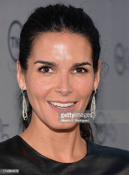 Actress Angie Harmon arrives to TNT's 25th Anniversary Party at The Beverly Hilton Hotel on July 24, 2013 in Beverly Hills, California.