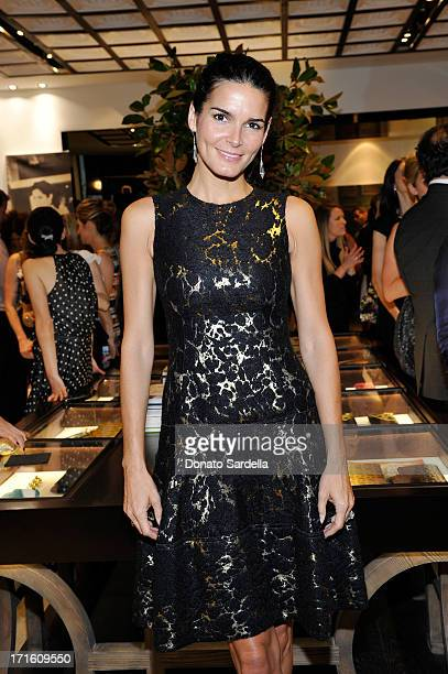 Actress Angie Harmon attend Vanity Fair and CH Carolina Herrera celebrate the opening of the CH Carolina Herrera Boutique on Rodeo Drive on June 26,...