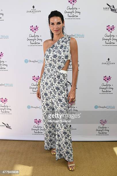 Actress Angie Harmon attended a tea party to support the Charlotte Gwenyth Gray Foundation to cure Batten Disease on Saturday June 20th in Brentwood...