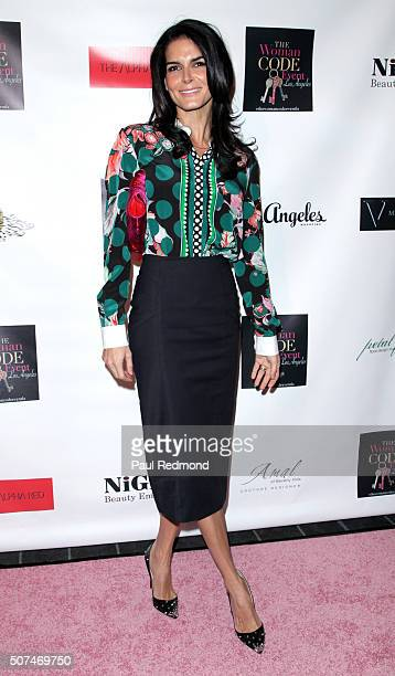 Actress Angie Harmon attends An Evening With Author Of 'The Woman Code' Sophia A Nelson hosted by Angie Harmon at City Club Los Angeles on January 29...