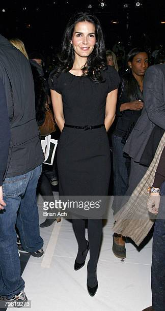Actress Angie Harmon attends Carolina Herrera Fall 2008 during MercedesBenz Fashion Week at The Tent Bryant Park on February 4 2008 in New York City