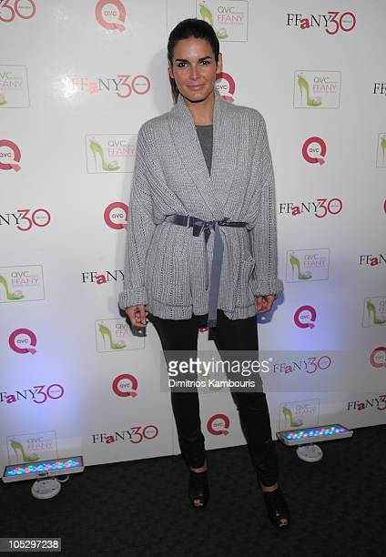 """Actress Angie Harmon attends """"FFANY Shoes on Sale"""" Benefit for Breast Cancer Research and Education, presented by QVC at Frederick P. Rose Hall, Jazz..."""