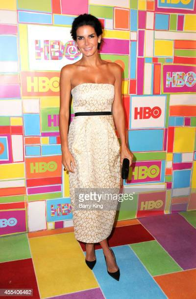 Actress Angie Harmon attends HBO's 2014 Emmy after party at The Plaza at the Pacific Design Center on August 25 2014 in Los Angeles California