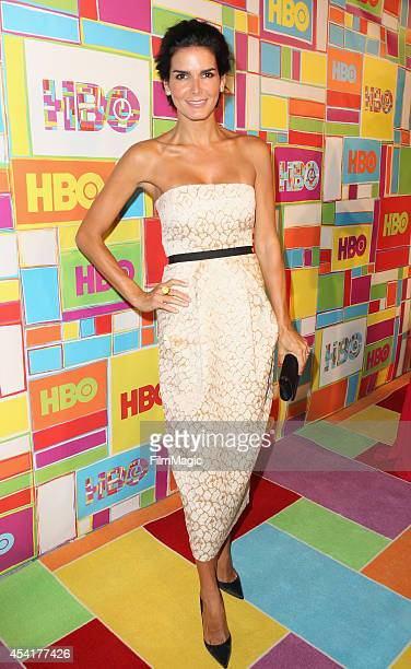 Actress Angie Harmon attends HBO's Official 2014 Emmy After Party at The Plaza at the Pacific Design Center on August 25 2014 in Los Angeles...