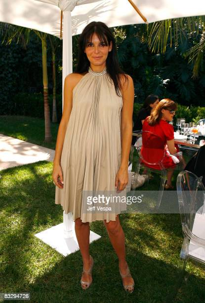Actress Angie Harmon attends La Prairie Cellular Cream Platinum Rare Luncheon Benefiting Stand Up to Cancer on October 15 2008 in Bel Air California