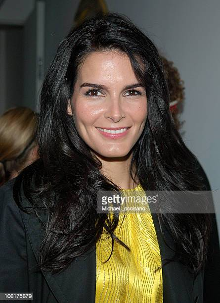 Actress Angie Harmon attends MercedesBenz Fashion Week Fall 2008 Tory Burch Presentation at Christie's Midtown in New York City on February 5 2008