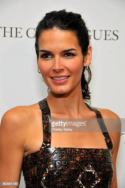 Actress Angie Harmon attends Saks Fifth Avenue's 20th Annual Spring Luncheon at the Beverly Wilshire Hotel on April 9 2008 in Beverly Hills California