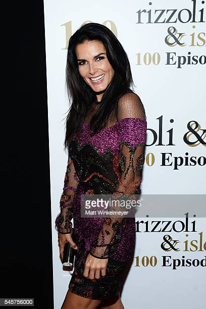 "Actress Angie Harmon attends the 100 episode celebration of TNT's ""Rizzoli and Isles"" at Cicada on July 9, 2016 in Los Angeles, California."