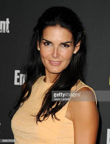 Actress Angie Harmon attends the 2014 Entertainment Weekly pre-Emmy party at Fig & Olive Melrose Place on August 23, 2014 in West Hollywood,...