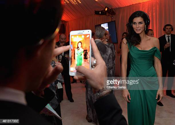 Actress Angie Harmon attends the 8th Annual HEAVEN Gala presented by Art of Elysium and Samsung Galaxy at Hangar 8 on January 10 2015 in Los Angeles...