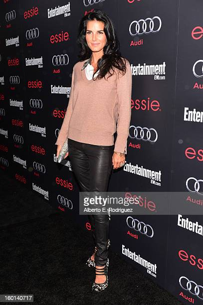 Actress Angie Harmon attends the Entertainment Weekly PreSAG Party hosted by Essie and Audi held at Chateau Marmont on January 26 2013 in Los Angeles...