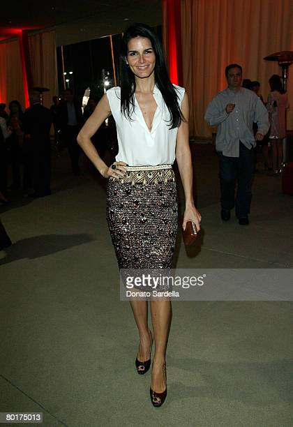 LOS ANGELES CA MARCH 08 Actress Angie Harmon attends the Inaugural Avantgarde gala hosted by W Magazine and LACMA at LACMA BCAM on March 8 2008 in...