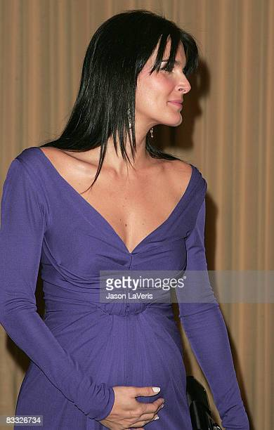 Actress Angie Harmon attends the International Women's Media Foundation's Courage in Journalism Awards at the Beverly Hills Hotel on October 16 2008...