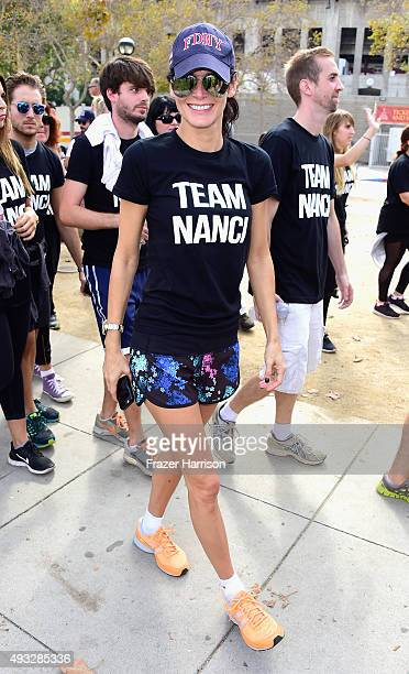 Actress Angie Harmon attends the Nanci Ryder's Team Nanci At The 13th Annual LA County Walk To Defeat ALS at Exposition Park on October 18 2015 in...