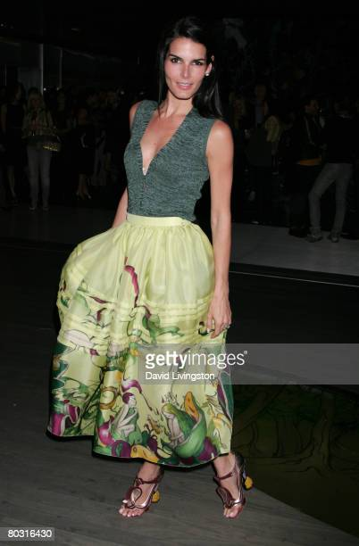 Actress Angie Harmon attends the Prada Los Angeles screening of 'Trembled Blossoms' at Prada Beverly Hills Epicenter on March 19 2008 in Beverly...