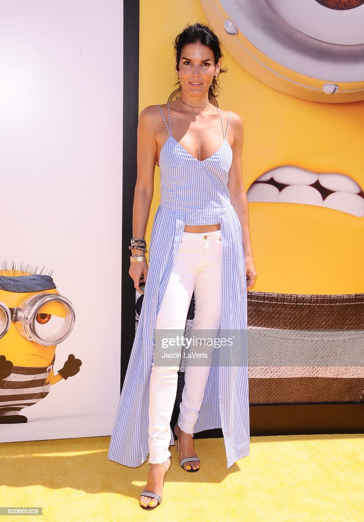 Actress Angie Harmon attends the premiere of 'Despicable Me 3' at The Shrine Auditorium on June 24, 2017 in Los Angeles, California.