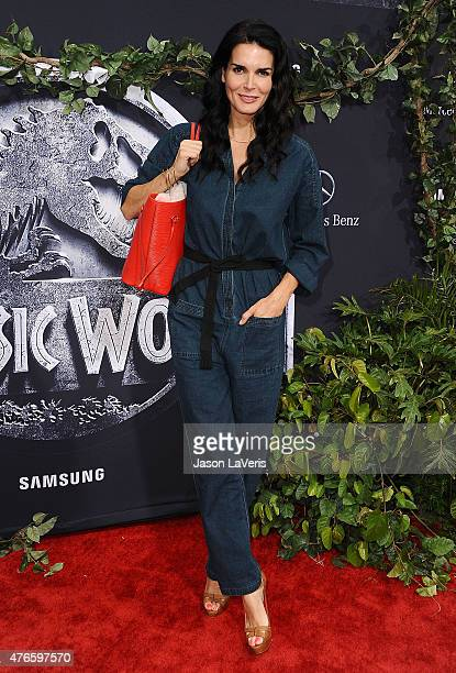 Actress Angie Harmon attends the premiere of 'Jurassic World' at Dolby Theatre on June 9 2015 in Hollywood California