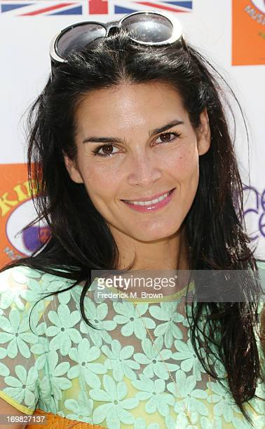 Actress Angie Harmon attends the Seventh Annual Kidstock Music and Art Festival to benefit One Voice Scholars at the Greystone Mansion on June 2 2013...