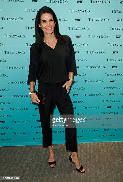 Actress Angie Harmon attends Tiffany Co And Women In Film Celebrate Sue Kroll on June 3 2015 in Beverly Hills California