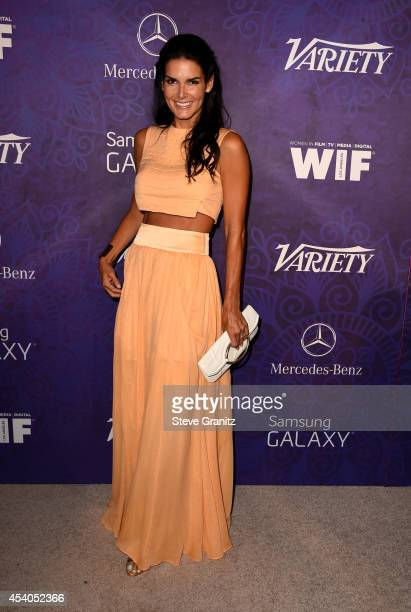 Actress Angie Harmon attends Variety and Women in Film Annual Pre-Emmy Celebration at Gracias Madre on August 23, 2014 in West Hollywood, California.