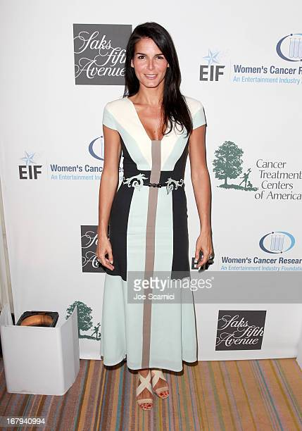 "Actress Angie Harmon in Carolina Herrera attends EIF Women's Cancer Research Fund's 16th Annual ""An Unforgettable Evening"" presented by Saks Fifth..."