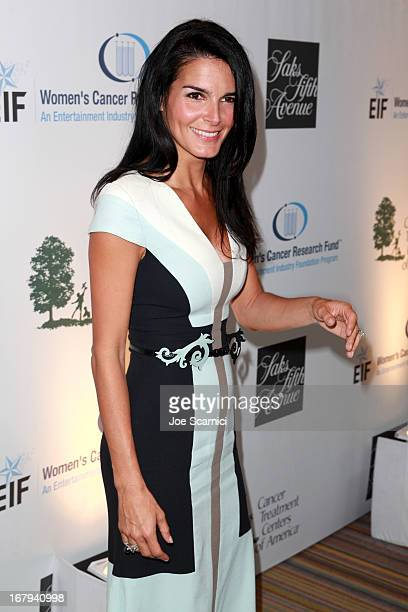 """Actress Angie Harmon in Carolina Herrera attends EIF Women's Cancer Research Fund's 16th Annual """"An Unforgettable Evening"""" presented by Saks Fifth..."""