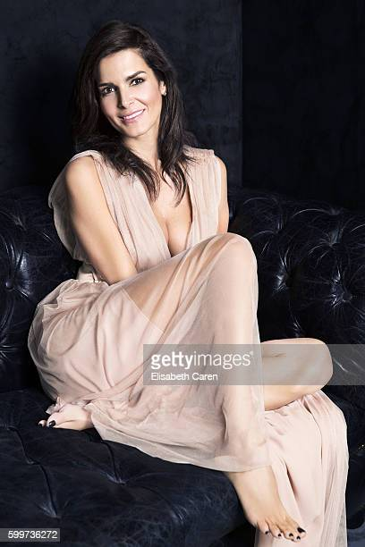 Actress Angie Harmon is photographed for Viva on January 13 2016 in Los Angeles California