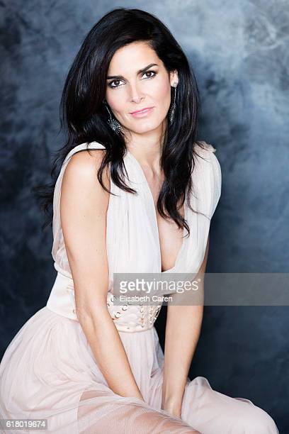 Actress Angie Harmon is photographed for Viva on January 13, 2016 in Los Angeles, California.