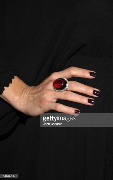 Actress Angie Harmon wearing Bally arrives at the Bally and Vanity Fair Hollywood Domino Game Night benefiting The Art of Elysium held at Andaz on...