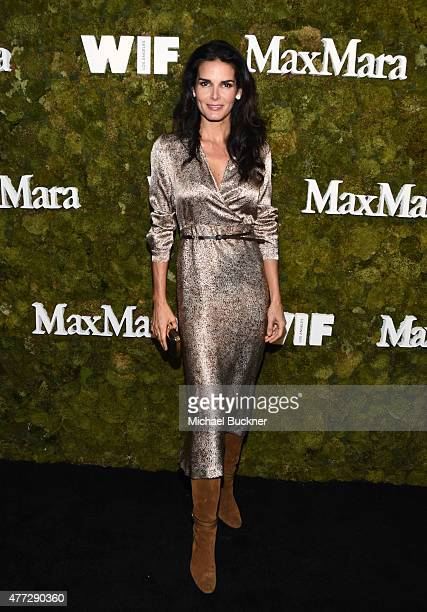 Actress Angie Harmon wearing Max Mara attends The Max Mara 2015 Women In Film Face Of The Future event at Chateau Marmont on June 15 2015 in West...