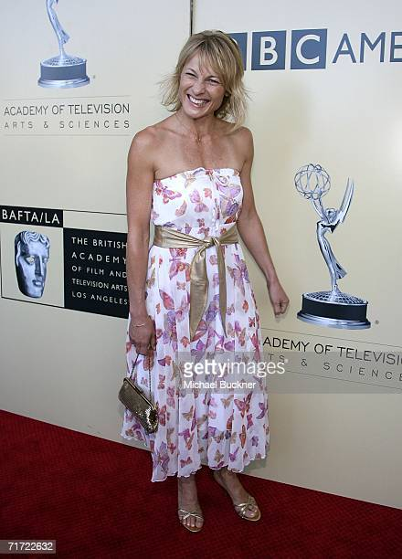Actress Angie Milliken arrives at the BAFTA/LAAcademy of Television Arts and Sciences Tea Party at the Century Hyatt on August 26 2006 in Century...
