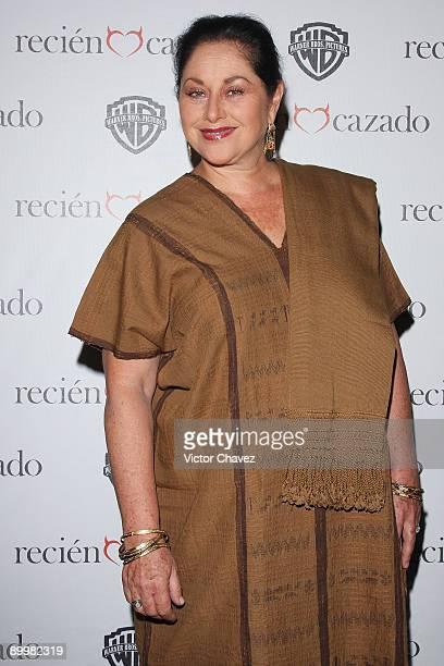Actress Angélica Aragón attends the premiere of Recien Cazado at Plaza Cuicuilco on August 20 2009 in Mexico City Mexico