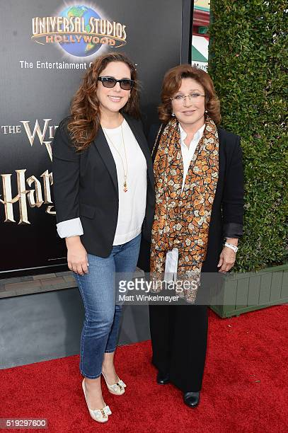 Actress Angélica Vale and singer Angelica Maria attend Universal Studios' 'Wizarding World of Harry Potter Opening' at Universal Studios Hollywood on...