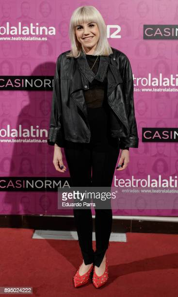 Actress Angy Fernandez attends the 'Casi normales' premiere at La Latina theatre on December 18 2017 in Madrid Spain