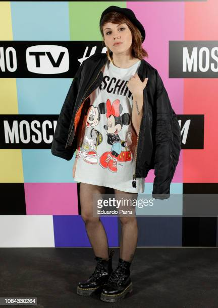 Actress Angy Fernandez attends the 'HM Moschino ' photocall at Rolling Space on November 06 2018 in Madrid Spain