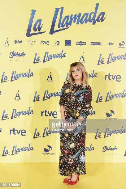 Actress Angy Fernandez attends the 'La Llamada' premiere at Capitol cinema on September 26 2017 in Madrid Spain