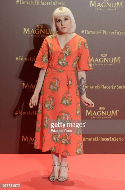 Actress Angy Fernandez attends the 'Magnum' photocall at Gran Maestre theatre on June 13 2018 in Madrid Spain